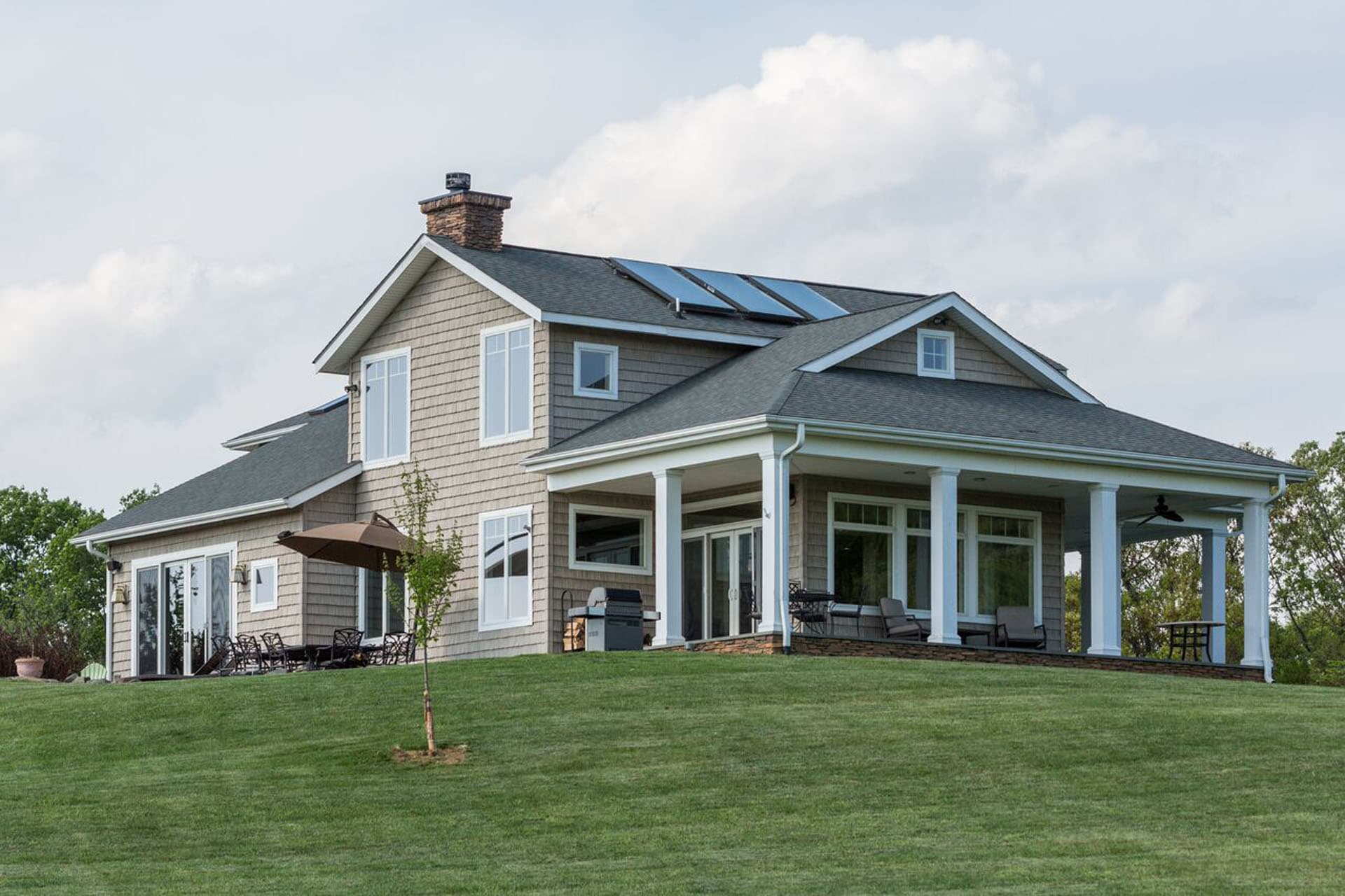 Large new house made by local custom home builders