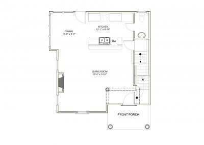 Virginia Ave House 2 zone 3a - First Floor Plan