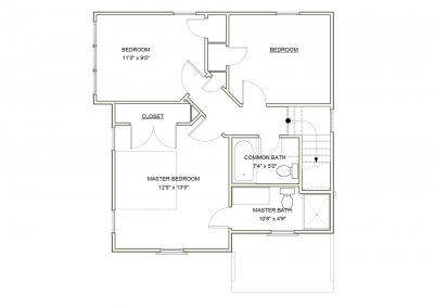 Virginia Ave House 2 zone 3a - Second Floor Plan